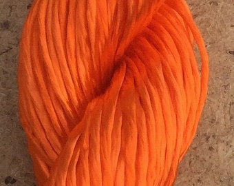 Rayon Floss, Brilliant Orange, Viscose Floss, 4 Strand Viscose Floss, Embroidery Thread, Braidmaking, Kumihimo