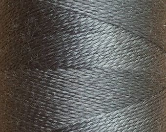 Slate, Silk Machine Threads, 100% Mulberry Silk, Plain Dyed, Luxury Silk Threads, Spun Silk, Solid Colours, 300m, 325yds