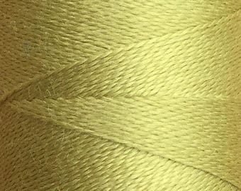 Ochre, Silk Machine Threads, 100% Mulberry Silk, Plain Dyed, Luxury Silk Threads, Spun Silk, Solid Colours, 300m, 325yds