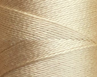 Beige, Silk Machine Threads, 100% Mulberry Silk, Plain Dyed, Luxury Silk Threads, Spun Silk, Solid Colours, 300m, 325yds