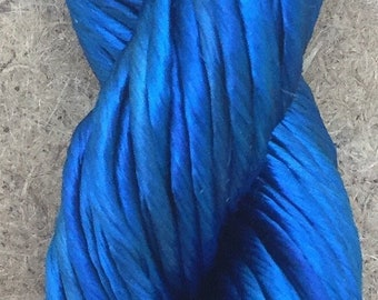 Thick Rayon Floss, Royal Blue, Viscose Floss, 9 Strand Viscose Floss, Embroidery Thread, Braidmaking, Kumihimo