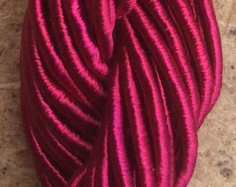 Viscose Gimp Thread,  Hand Dyed Gimp, Viscose Gimp, Magenta, 10 metres,
