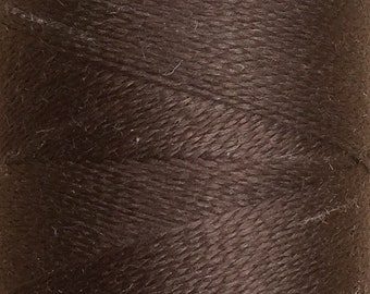 Dark Brown, Silk Machine Threads, 100% Mulberry Silk, Plain Dyed, Luxury Silk Threads, Spun Silk, Solid Colours, 300m, 325yds