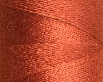 Rust, Silk Machine Threads, 100% Mulberry Silk, Plain Dyed, Luxury Silk Threads, Spun Silk, Solid Colours, 300m, 325yds