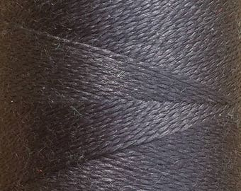 Gunmetal, Silk Machine Threads, 100% Mulberry Silk, Plain Dyed, Luxury Silk Threads, Spun Silk, Solid Colours, 300m, 325yds