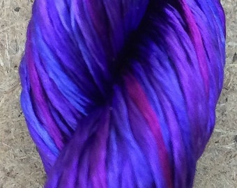 Rayon Floss, No.05 Violet, Viscose Floss, 4 Strand Viscose Floss, Embroidery Thread, Braidmaking, Kumihimo