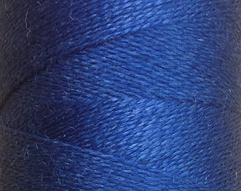 Royal, Silk Machine Threads, 100% Mulberry Silk, Plain Dyed, Luxury Silk Threads, Spun Silk, Solid Colours, 300m, 325yds