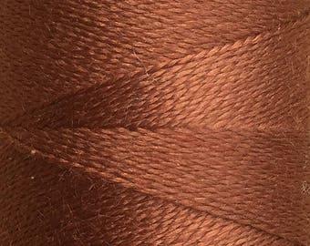 Deep Tan, Silk Machine Threads, 100% Mulberry Silk, Plain Dyed, Luxury Silk Threads, Spun Silk, Solid Colours, 300m, 325yds