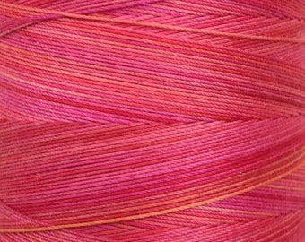 Cotton Machine Quilting Thread, No.14 Christmas Red, Hand Dyed, Machine Embroidery Thread, 40wt.,750m (820yds)