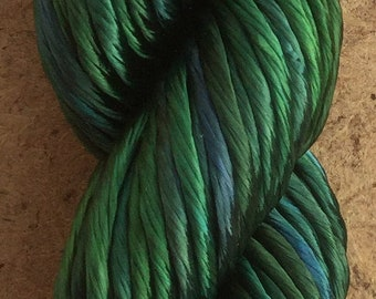 Thick Rayon Floss, Green/Blue, Viscose Floss, 9 Strand Viscose Floss, Embroidery Thread, Braidmaking, Kumihimo