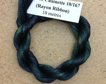 Hand Dyed Viscose Ribbon, Colour No.71 Chestnut, 10m (11 yards), 10/167 Viscose Ribbon, Rayon Ribbon, Embroidery, Thread, Canvaswork