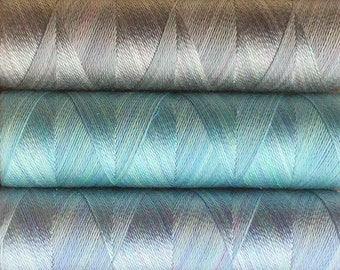 Pastel Collection, Hand Dyed Silk Machine Threads, Connoisseur Pack, Luxury Machine Thread, Set of 10 x 120m (130yds)