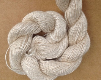 Silk Flamme, Silk Yarn, Weaving Yarn, Crochet Yarn, Natural, Undyed, Ivory, Ref.567
