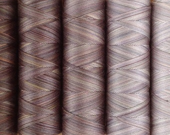 Pebble Tones, Machine Cotton, Gradient Dyed, Hand Dyed Egyptian Cotton Machine Thread