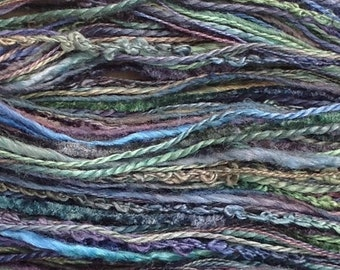 Silk One Off, Hand Dyed Silk Thread Selection, Silk Threads, No. 53 - Spruce, Creative Embroidery, Canvaswork