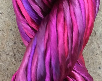 Rayon Floss, Cerise, Viscose Floss, 4 Strand Viscose Floss, Embroidery Thread, Braidmaking, Kumihimo