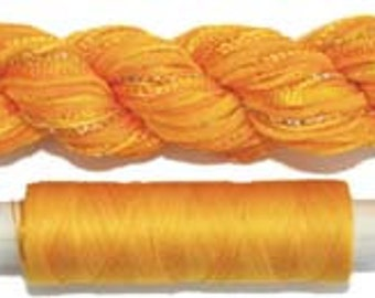 Hand Dyed Embroidery Threads, Two of a Kind, No.51 Daffodil, Creative Embellishment Threads, Quilting Thread, Textured Threads