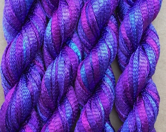 Hand Dyed Viscose Ribbon, 10/167 Viscose Ribbon, Rayon Ribbon, Embroidery, Thread, Canvaswork, Needlepoint, Colour No.05 Violet