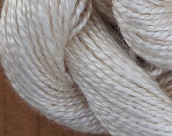 Silk 8/2 weight Yarn, Laceweight Yarn Silk Yarn, Weaving Yarn, Crochet Yarn, Natural, Undyed, Ivory,