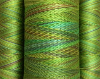 Multicoloured, Hand Dyed Cotton Machine Quilting or Embroidery Thread, Eygyptian Cotton 40wt., 150m (162yds) or 750m (820yds), Ref.SM04