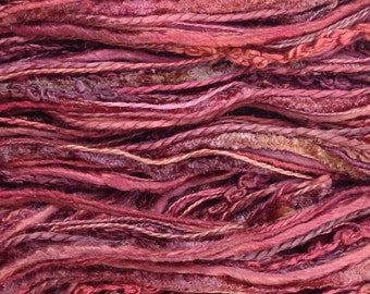 Hand Dyed Mulberry Silk Thread Selection, Silk One Off, Creative Embroidery Thread, Canvaswork, Needlepoint, Colour No. 02 - Antique Red