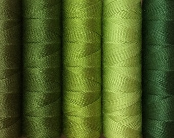 FINE COTTON, 50m (55yds), Embroidery Thread, Flat Dyed Colours, Cotton Thread, Embroidery Floss, 16/2 wt. (Equivalent to Perle 12)