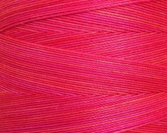 Hand Dyed Cotton Machine Quilting Thread, Machine Embroidery Thread, Egyptian Cotton, 750m (820yds) Bright Red, Ref.944