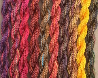 Hand Dyed 3600/2 Viscose Cord, Rayon II, Embroidery, Thread, Needlepoint