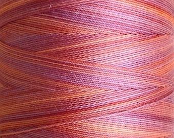 Hand Dyed Cotton Machine Quilting Thread, Machine Embroidery Thread, 750m (820yds) Colour No.12 Terra Cotta