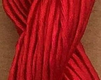 Thick Rayon Floss, Viscose Floss, 9 Strand Viscose Floss, Embroidery Thread, Braidmaking, Kumihimo, Colour Intense Red
