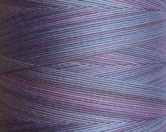Hand Dyed Cotton Machine Quilting Thread, Machine Embroidery Thread,  Eygyptian Cotton 40wt. 750m (820yds) No.19 Black Cherry (0.125%)