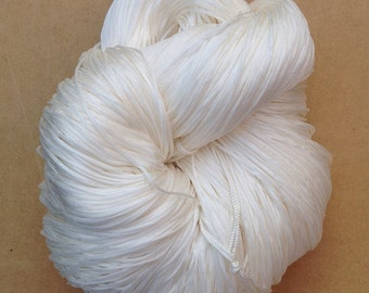 Viscose Chainette 6/167, Yarn for Dyeing, Rayon Yarn, Knitting Yarn, Weaving, Crochet, Natural, Undyed