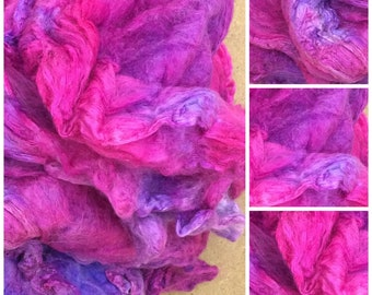 Silk Mawata Hankies, Hand Dyed, Colour No.05 Violet, Grade A Silk Hankies