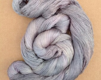 Hand Dyed Silk Yarn, Spun Silk Yarn, Weaving, Lace Knitting,  Lacemaking, 60/2 weight, No.56 Pebble