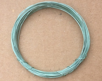 Coloured Copper Wire, Aquamarine, 0.5mm, 24 Gauge, 4m (4.3 yards) Metalwork,  Mixed Media, Jewellery making, Turquoise