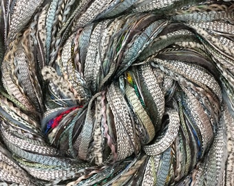 Grey Happy Bag, Mixed Thread Selection, Hand Dyed Cotton Threads, Viscose Threads, Pack colour choices across the spectrum
