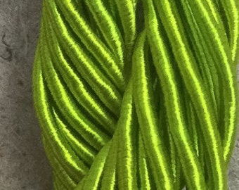 Viscose Gimp Thread,  Hand Dyed Gimp, Viscose Gimp, Chartreuse, 10 metres,