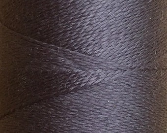 Pewter, Silk Machine Threads, 100% Mulberry Silk, Plain Dyed, Luxury Silk Threads, Spun Silk, Solid Colours, 300m, 325yds