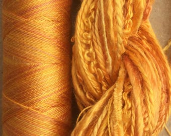 Silk Harmony, Embroidery Thread Selection and Silk Machine Thread, Embroidery Threads, Quilting Thread,  No.07 Yellow Ochre