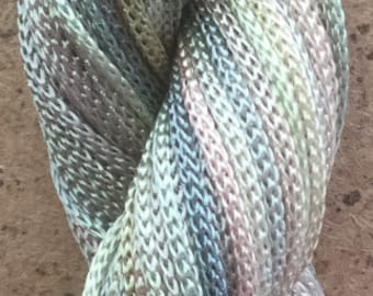 Viscose Chainette 4/167, Rayon Ribbon, Colour No.22 Silver Birch, 50 metres