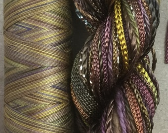 Two of a Kind, No.01 Chocolate - Hand Dyed Cotton and Viscose  Thread Selection! Hand Dyed Machine Cotton, Creative Threads, British Seller