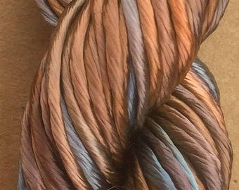 Thick Rayon Floss, Viscose Floss, 9 Strand Viscose Floss, Embroidery Thread, Braidmaking, Kumihimo, Colour No.21 Rust