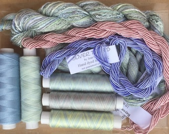 Thread Collections, Hand Dyed Embroidery Threads, Hand Dyed Machine Threads, Hand Dyed Quilting Threads,