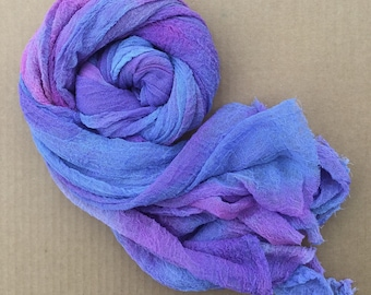 Cotton Scrim, Hand Dyed Gauze, Openweave Fabric, Dyed Butter Muslin, Nuno felting, UK Seller, Colour No.29 Stocks