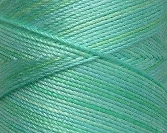 No.25 Spearmint, Hand Dyed Cotton Machine Thread, Individual Spool 150m, Machine Embroidery, machine Quilting