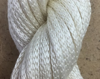 Silk Chainette, Tubular Silk Yarn, Natural Silk Chainette, Ivory Silk