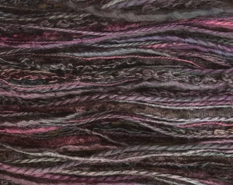 Silk One Off, Hand Dyed Silk Thread Selection, Silk Thread Mix, Spun Silk Thread, Embroidery, Creative Textiles, No.19 Black Cherry