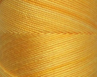 No.51 Daffodil, Hand Dyed Cotton Machine Thread, Individual Spool 150m, Machine Embroidery, machine Quilting