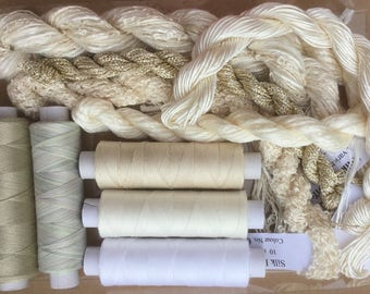 Thread Collections, Silk, Cotton and Viscose Embroidery Threads, Hand Dyed Machine Threads, Hand Dyed Quilting Threads, Totally Neutral