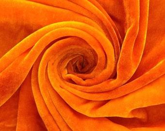 Hand Dyed Silk Velvet, Hand Dyed Devore Silk, Colour No.51 Daffodil